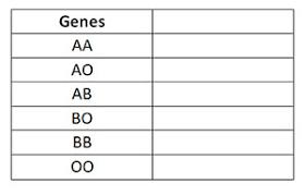 Parent And Child Blood Type Chart Understanding Genetics