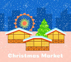 Image result for christmas market illustration