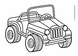 Jeep Transportation Coloring Pages For Kids