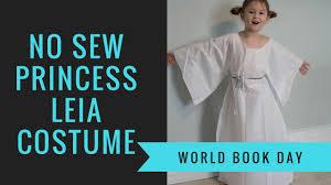 how to make a no sew princess leia costume for world book day
