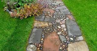 Create A Pebble Mosaic  Fine GardeningMosaic Garden Path