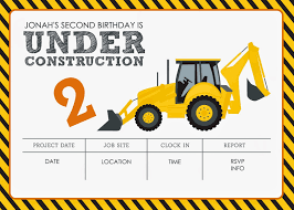 construction birthday invitations com