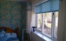 window blind : Amazing Velux Window Blinds Bq Bedroom Roller Blind In  Kimono Duck Egg Trimmed With Self Coloured Q How To Install Roof Windows  Help Ideas ...