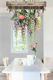 diy flower spring chandelier hanging