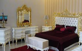Red or White Capitone Bedroom in Gold FinishTop and Best Italian ...