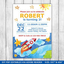 Space Party Invitation Outer Space Birthday Invitation Outer Space Invite Outer Space Outer Space Party Editable Invitations Template Instant Download
