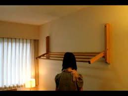 hogan wood wall mount clothes drying