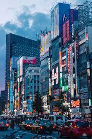 Triple Lights Tokyo Hd Wallpaper City Cars Night Blue Red Tokyo Japan