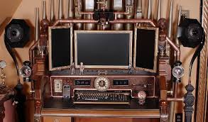 steampunk office. The Ultimate Steampunk Office Makes Everything Analog, Right Down To USB Stick T
