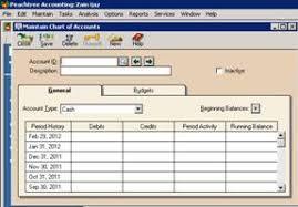 Set Up A New Company Peachtree Maintain Chart Of Accounts