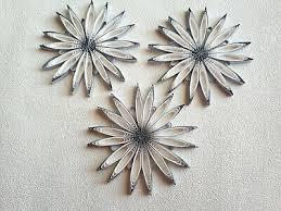3 Sterne Weiss Silber Christbaumschmuck Weihnachtsdeko