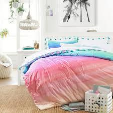 watercolor rainbow ombre comforter
