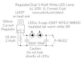 regulated dual 3 watt white led lamp dual 3 watt led lamp schematic