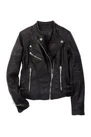 image of blanknyc denim faux leather moto jacket big girls