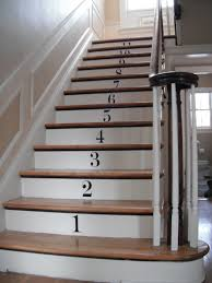 Numbered stair risers
