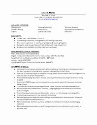 Shipping Resume Templates Best of Resume Samples For Supply Chain Management Unique Shipping And