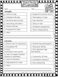 Free Editable Parent Teacher Conference Form By More Time 2 Teach