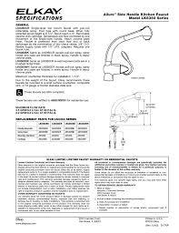 Elkay Kitchen Faucet Parts Elkay Lk6360 Series User Manual 1 Page