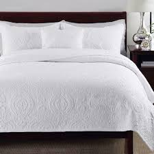 CHAUSUB 100% Cotton Quilt Set 3pcs Embroidery Pattern Quilted ... & CHAUSUB 100% Cotton Quilt Set 3pcs Embroidery Pattern Quilted Bedspread  SOFT Bed Cover Pillow Shams Adamdwight.com