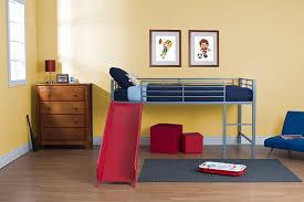Twin Loft Bed with Slide Indoor