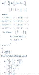 linear equations using matrix method