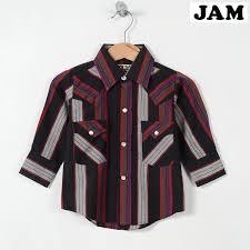 Stripe Bottle Tit Sleeve Western Shirt Baby 80cm Ely Cattleman Weg2100 150423