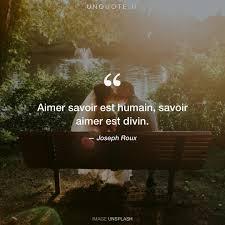 Aimer Savoir Est Humain Sa Citation De Joseph Roux Unquote