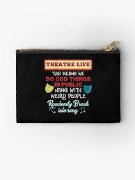 gifts theatre shirt drama teacher gift theatre gift ideas theatre shirt theater gift theatre nerd thespian shirt studio pouch