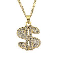 Bling bling cuban chain ,<b>hip hop US Dollar</b> Shape $ Pendant ...