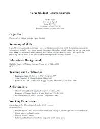 Student Nurse Resume Custom Student Nurse Resume Sample Foodcityme