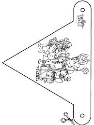 Kleurplaat Vlag Sinterklaas