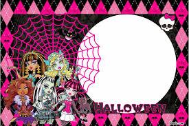 Free Halloween Birthday Invitation Templates Free Printable Monster High Birthday Invitations Free