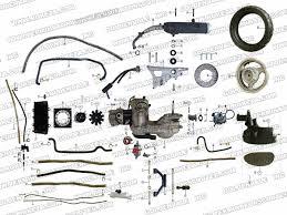 roketa mc b engine and rear wheel assembly parts