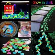 Luminous Stones 100/200/300/<b>500 PCS</b> Pathway Stones <b>Glow in</b> ...