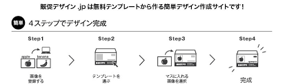 無料テンプレートから作る印刷デザイン作成販促デザインjp