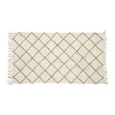 more views hubsch soft berber style geometric rug white light grey