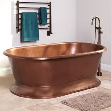 78 kelsey copper pedestal tub bathroom