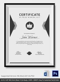 Award Certificate Template - 39+ Word, Pdf, Psd Format Download ...