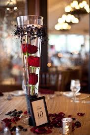 35+ Red and Black Vampire Halloween Wedding Ideas. Halloween Wedding  CenterpiecesRose ...