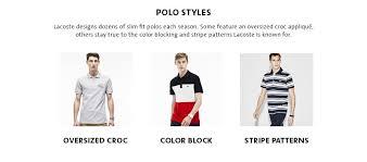 Lacoste Polo Shirt Color Chart Lacoste Mens Short Sleeve Jacquard Color Block Collar Shirt