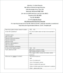 Incident Reporting Form Mesmerizing Security Daily Activity Report Template Free Download Incident Form