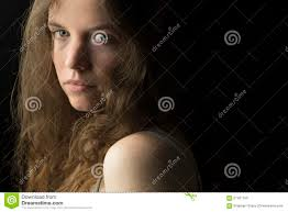 Brown Hair Light Skin Blue Eyes Young Woman With Fair Skin Blue Eyes And Light Brown Curly
