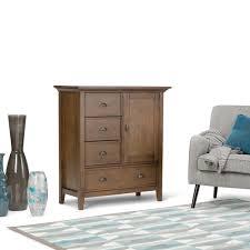 rustic storage cabinets. Simpli Home Redmond Medium Rustic Natural Aged Brown Storage Cabinet Cabinets