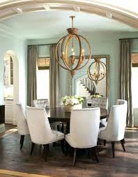 standard height of chandelier over dining table