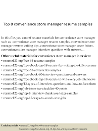 Convenience Store Manager Resume Examples top60conveniencestoremanagerresumesamples60lva60app66092thumbnail60jpgcb=60603605707060 42