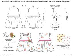 Body Template For Designing Clothes Kids Illustrator Flat Fashion Sketch Templates My Practical Skills