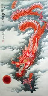 chinese dragon paintings power of the red dragon