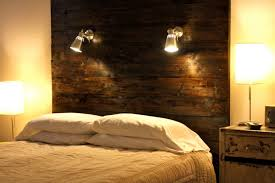rustic headboard light fixtures for diy master bedroom decorating ideas