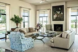 Rare glimpse: The living room, shown here, is a place where the family