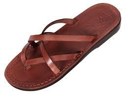 criss cross biblical leather flip flop sandal carmel